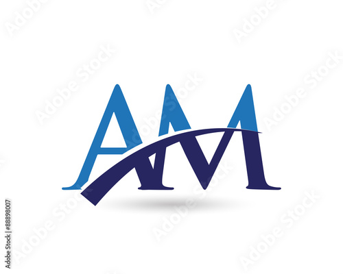 am logo letter swoosh stock image and royalty free vector files on