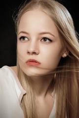 sad blond