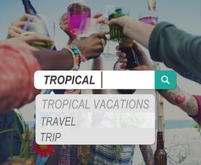 Tropical Beach Summer Sand Sea Vacation Coastline Concept