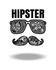 Vector of hipster zentangle style