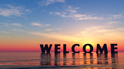 welcome in summer Wall mural