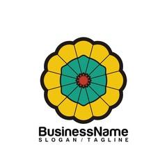 Flower vector logo icon