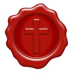 Cross Sign Wax Stamp