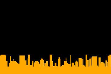 Black Background Cityscape