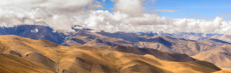 Mountain with blue sky in Tibet