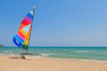 yacht boat on the beach