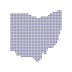 Ohio dots map logo