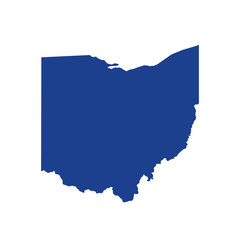 Ohio flat map logo