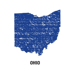 Ohio grunge seal map logo