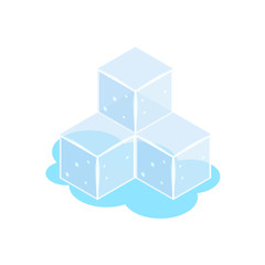 Ice cube icons isometric
