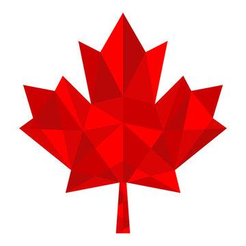 polygon red maple leaf