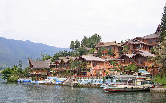island Samosir on the lake Toba