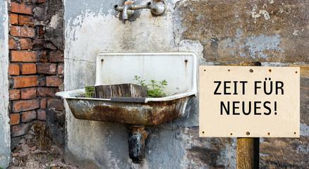 Zeit für Neues DDR Waschbecken