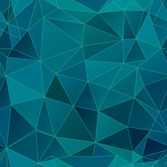Blue polygonal mosaic background.