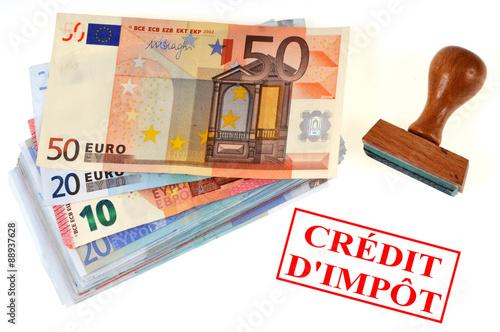 Cr dit d 39 imp t photo libre de droits sur la banque d - Credit d impot sur photovoltaique ...