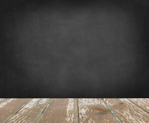 wood with blackboard