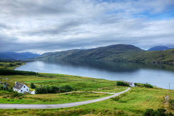 View of the town of Ullapool in Scotland