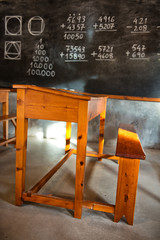 Old fashioned rustic school room