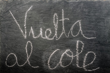 vuelta al cole horizontal text