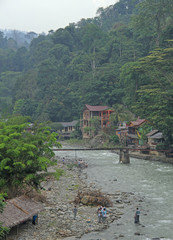 village Bukit Lawang, the north Sumatra