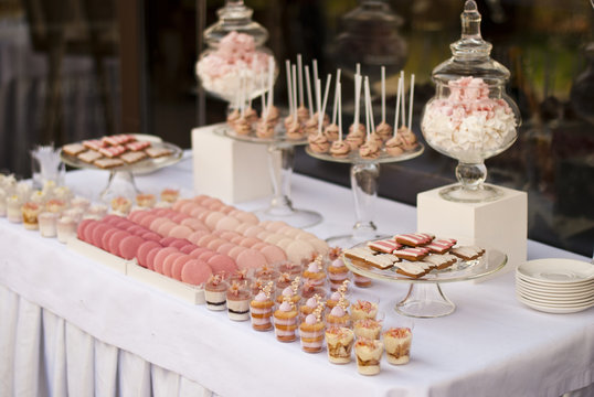 Dessert table for a wedding party