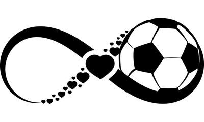 Soccer or Football Love Infinity