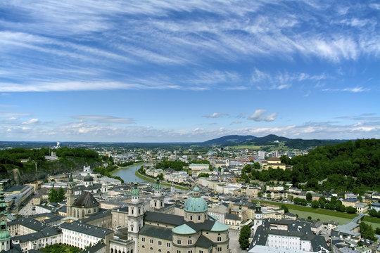 Aerial view of Salzburg. Austria.