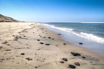 White beach with rocks on the Bazaruto Islands near Vilanculos in Mozambique