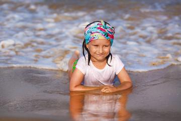 Baby girl on the beach