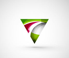 Abstract geometric company logo triangle, arrow