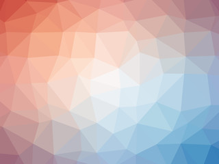 Red blue gradient polygon shaped background.