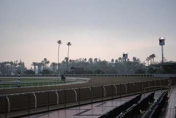 empty morning race track