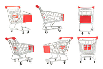 collection of shopping cart