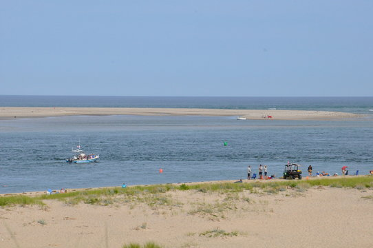 Chatham Lighthouse Beach on Cape Cod in Massachusetts
