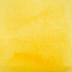 Yellow Watercolor Abstraction as Background, Hand Drawn