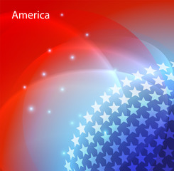 Abstract image of the USA flag