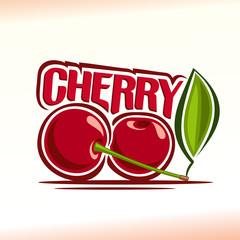 Vector illustration on the theme cherry