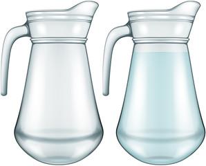Glass jar, vector illustration.