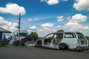 dump old cars and sell used parts for cars