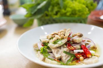 White pork sausage salad,Vietnam food