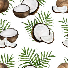 coconut seamless pattern