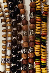 group of Ethnic esoteric beads