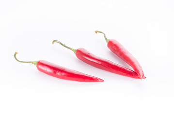 chili pepper isolated on a white