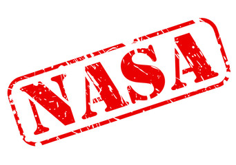 Nasa red stamp text