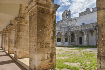 Church and courtyard - Ostuni, Puglia, Italy