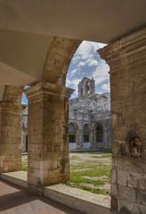 Church and courtyard - Ostuni, Puglia, Italy