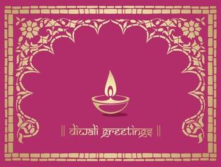 Oil lamp, Diwali greetings , royal Rajasthan, India