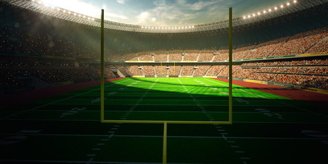 Football Arena Stadium Day render