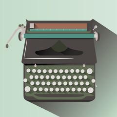 Typewriter Flat style