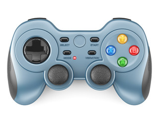 Blue gamepad isolated